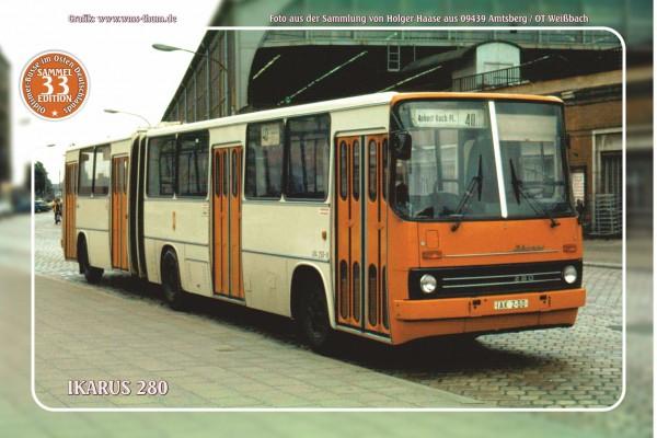 """Blechschild Bus Nr. 33 """"Ikarus 280"""""""