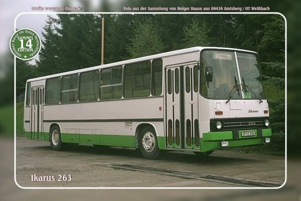 """Blechschild Bus Nr.14 """"Ikarus 263"""""""